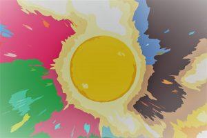 太陽からあふれる陰陽五行のイメージ